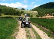 a spasso in quad per la valle