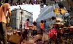 """umbria jazz concerto in p.za IV novembre di horacio""""el negro"""" hernandez& robby ameen band 12-7-03 foto belfiore"""