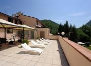 area fitness e solarium in terrazza