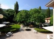 il giardino visto dall'hotel
