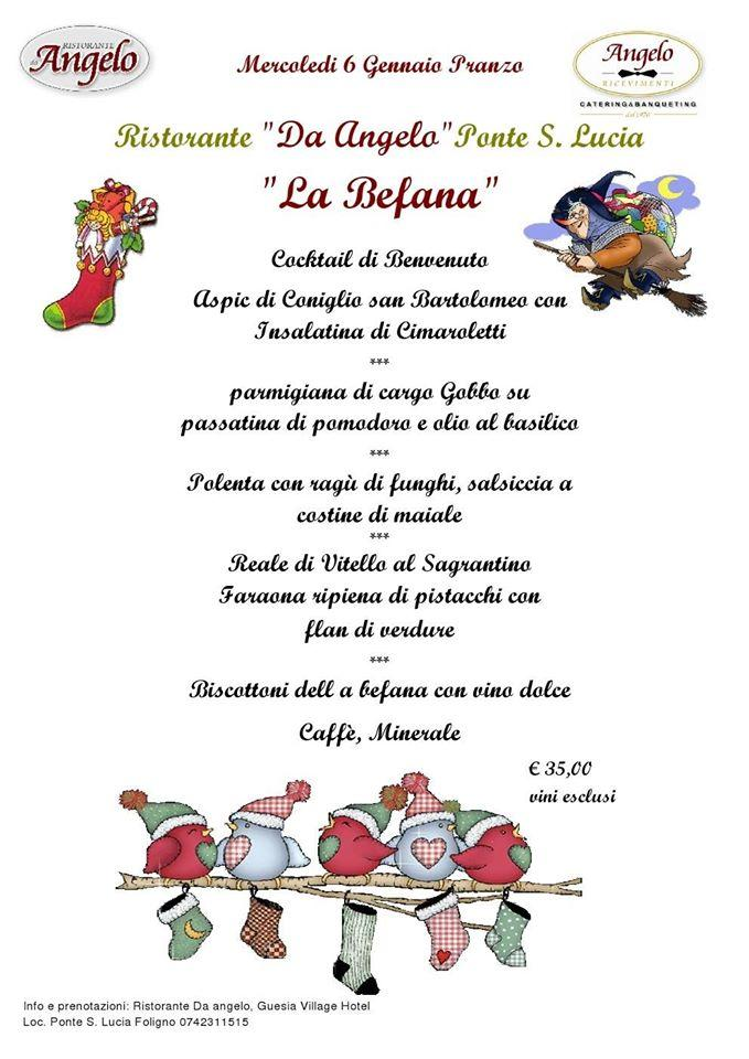 Guesia Village Hotel Spa Menu Befana 2016